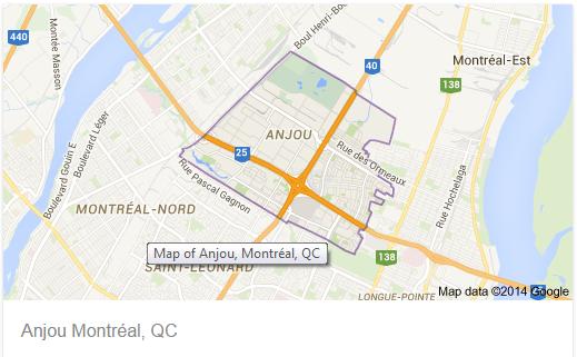 Nos plombiers interviennet dans le quartie de la ville d'anjou.